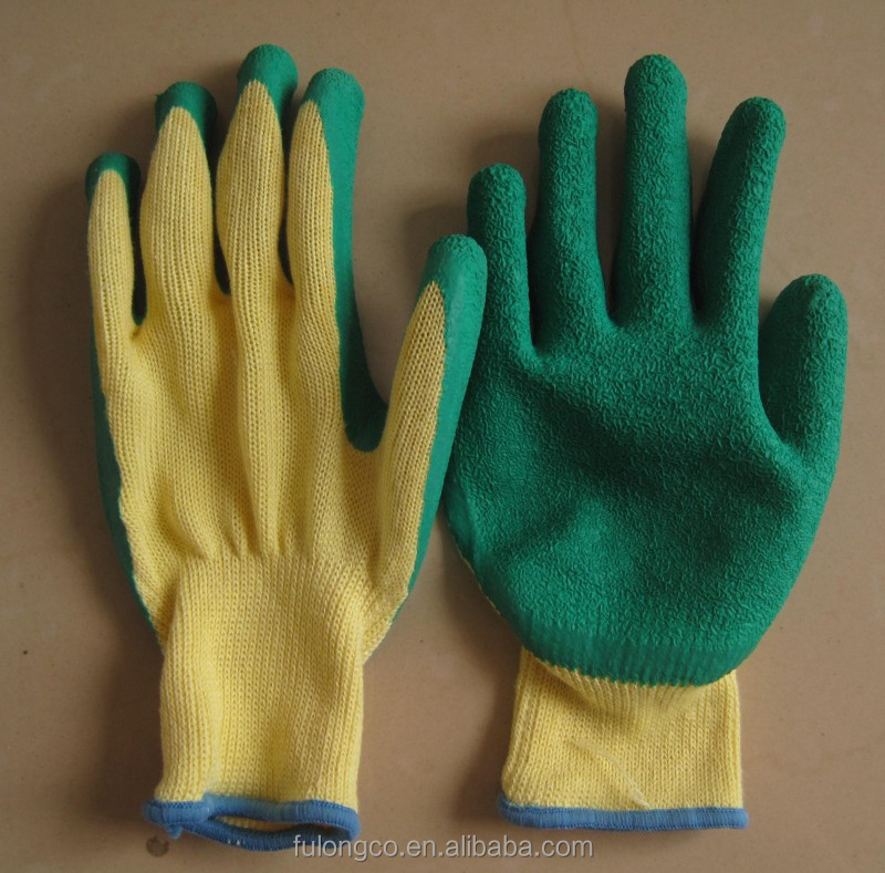 ecnomic style en388 palm logo latex rubber safety work hand gloves