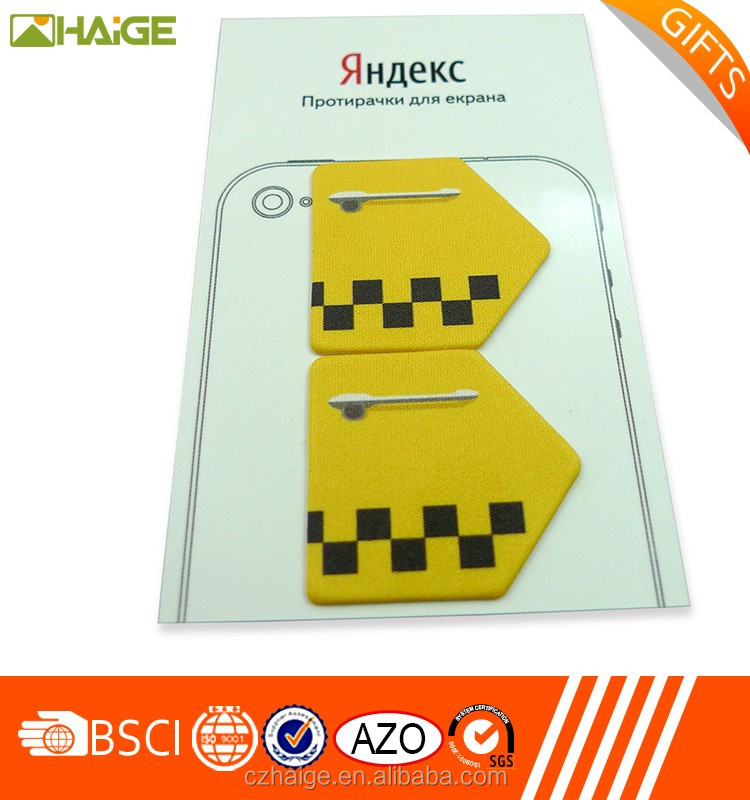 hot saling/ eco-friendly/colorful custom mobile phone screen cleaner sticker