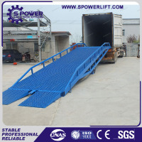 Height adjustable mobile loading ramp for container