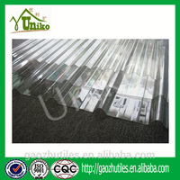 highly quality building material flexible polycarbonate sheet with uv coat