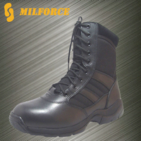 China supplier high quality black men military police tactical boots