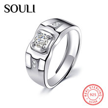 Customized Fashion Jewelry Vogue Real 925 Sterling Silver Gemstone Rings for Men