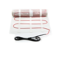 230V 150w/m2 1-15m2 Electrical twin conductor floor heating mat and thermostat