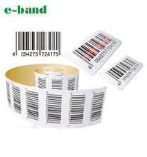 Custom adhesive printed barcode label stickers roll and sheet
