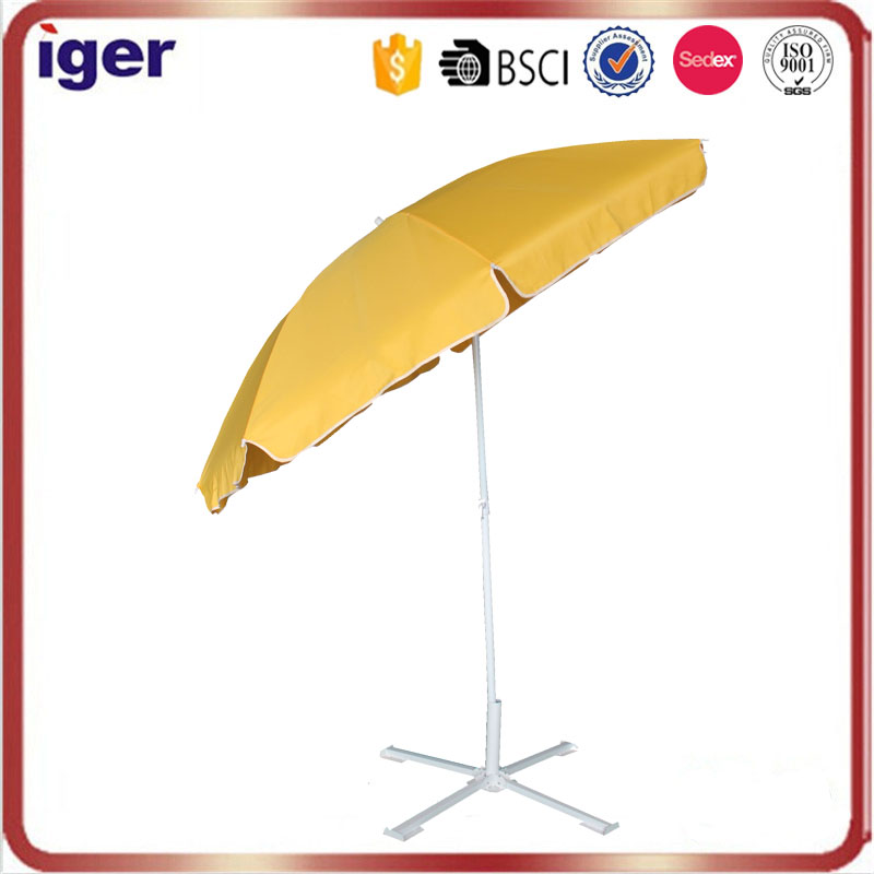 aluminum shaft large yellow patio beach umbrella for sale