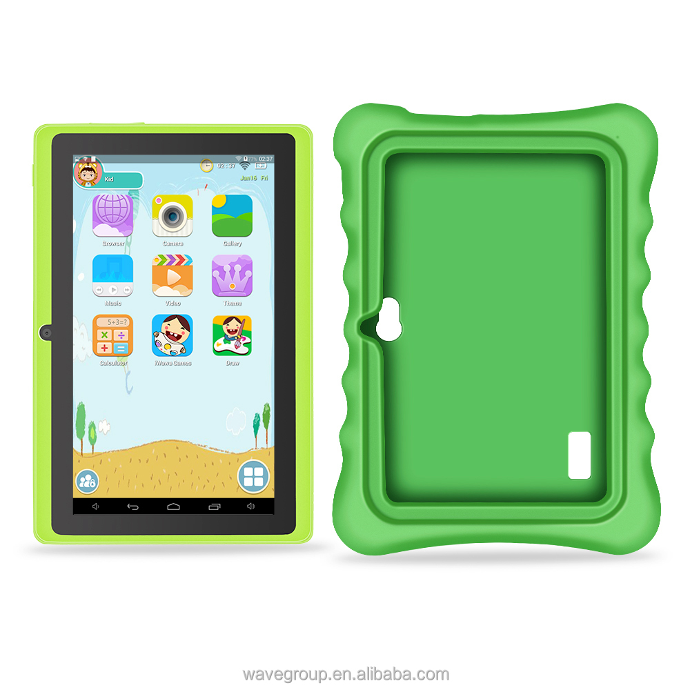 7-inch tablet computer WIFI development children's intelligence software portable parents can monitor the Tablet PC (green)