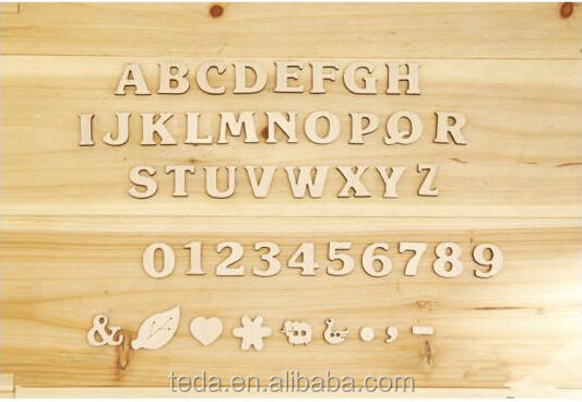 Wooden letter in folk crafts
