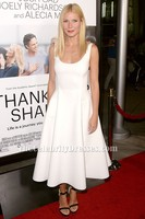 Celebrity Inspired Gwyneth Paltrow Thanks For Sharing Hollywood Premiere White Cocktail Party Dress