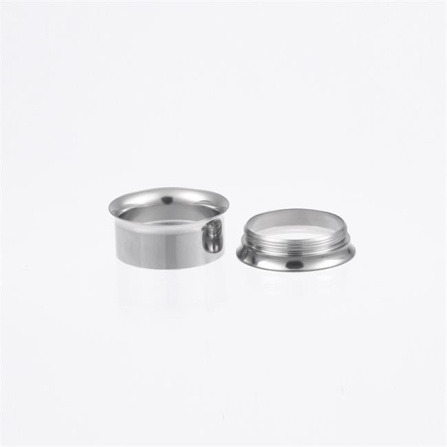 Internally threaded double flare ear tunnel and ear expander gauge piercing jewelry