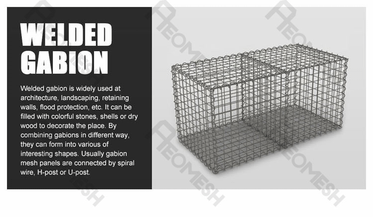 welded Gabion Box ,stone cages,basket retaining wall for garden fence