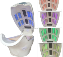With MP3 Musical Therapy 8 Led Light Therapy Bed Far infrared Heat Energy Dry Steam Ozone Sauna Slimming Spa Capsule Spaceship