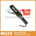 high sensitivity ce listed hand held metal detector MCD-2008 with knapsack bag