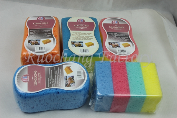 Wholesale cleaning sponge brush/pu porous