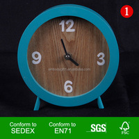 Walmart Factory Audit High Quality Handmade Home Decoration Round MDF Table Clock