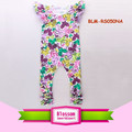 Icing Romper with Flutte Sleeve Baby Girl Onesie Infant Toddler Jumpsuit Floral Baby Girl Rompers Ruffled Sleeves