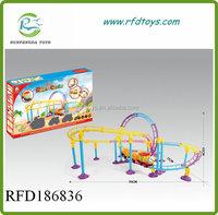 Children park roller coaster railway toy set