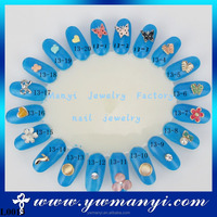 Popular colorful butterfly and flower fashionable glamour nail art jewelry accessories wholesale L0013