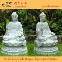 Antique Tall Sitting Marble Buddha Statue Of Protection