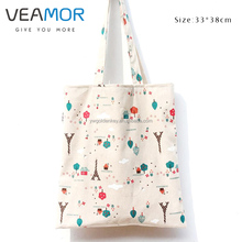 VEAMOR Small Tower Japanese Style Wind Simple Cotton Cloth Bag with Zipper Students Bag Leisure Fashion Shoulder Bags B1067