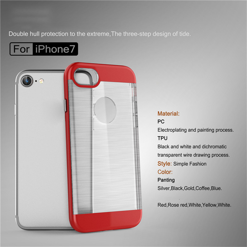 2017 Trending Products Brushed Cell Phone Case For iPhone7 7 plus Case Transparent Hairline TPU