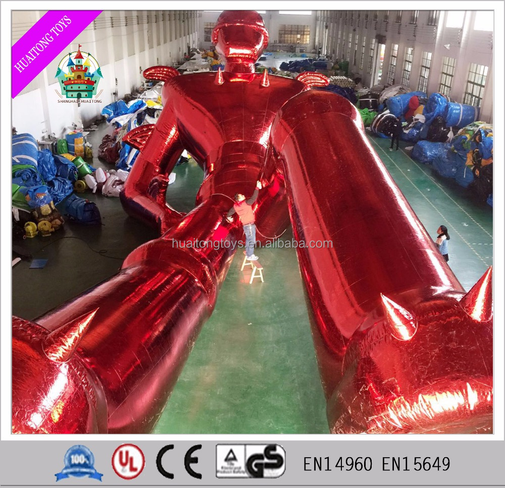 unique giant inflatable model red superman inflatable advertising for sale