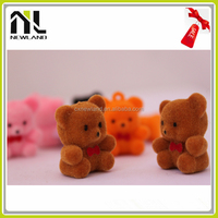 Factory New Lovely Flocking Miniature Animal plastic forest animal toy set