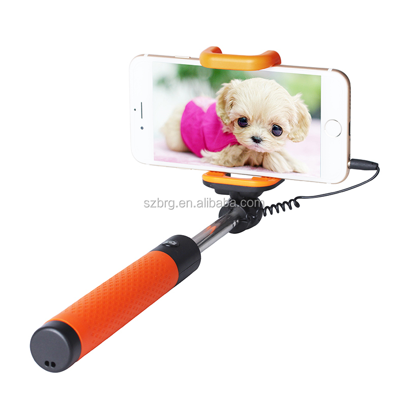 wired selfie monopod bluetooth monopod selfie stick for smartphone buy self. Black Bedroom Furniture Sets. Home Design Ideas