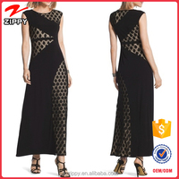 OEM Hot Selling Elegant New Fashion Black Ladies Maxi Dress