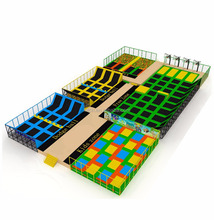 Prices Is Cheap 43.4X24.3X4.9M Sky Zone High Jumping Bed Trampoline Arena
