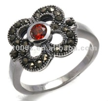 925 sterling silver marcasite cz ring jewelry
