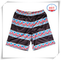 OEM Custom Design Your Own Board Boxer shorts Men swim Surfing Tribal and Black Stripes Sublimated Africa printing Shorts