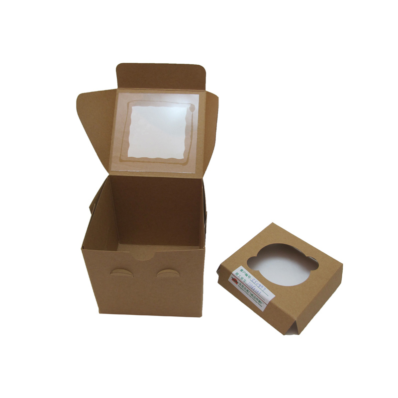 china supplier custom environmentally friendly folding paper cupcake box