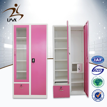Luoyang high quality 2 door steel wardrobe / latest bedroom furniture designs