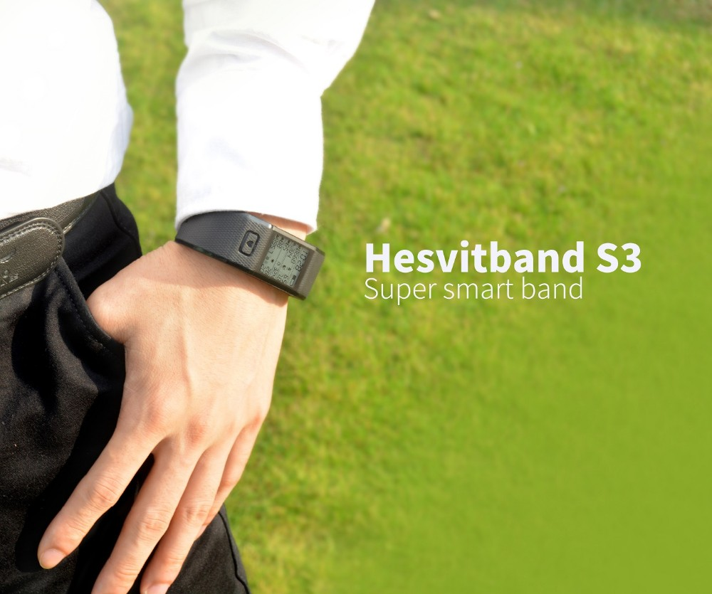 Hesvit S3 Smart Sport Wrist Band Tracker Heart Rate Wrist Bluetooth 4.0 with CE FCC Rohs