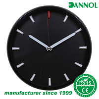 "Most popular 2016 low price logo imprint 12"" round quartz plastic modern design commercial wall clock watch"