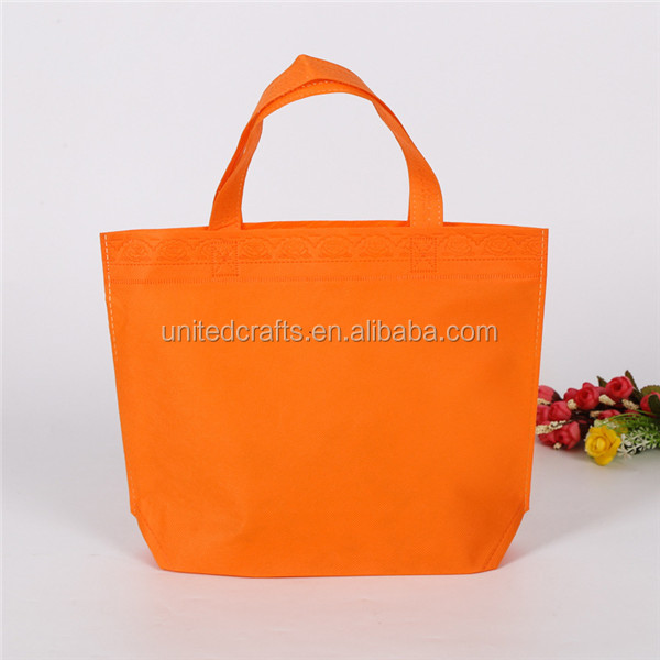 Promotional gift recycled printed 80 gsm Custom print pp non woven bag