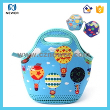 Waterproof cute nice looking pretty cheapest concept picnic girl school tote lunch bag