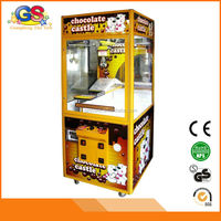 2015 new and beautiful candy chocolate bar small claw crane vending machines for sale