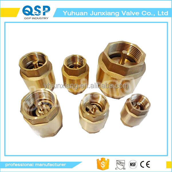 durable creative fuel line high pressure brass non slam check valve NPT female