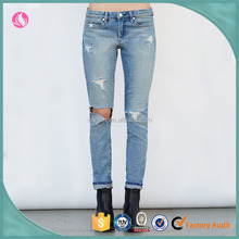 2017 Ladies Latest Jeans Women Denim Fabric Custom Box Jean Trousers Woman Clothes