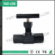 YAD-LOK Black Body Valve Base Control 1 8 Forged Stainless Steel BSP Needle Valve