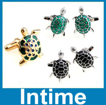 2014 wholesale cheap gold plating fashion jewelry novelty turtle cufflinks high qualitity men's jewelry