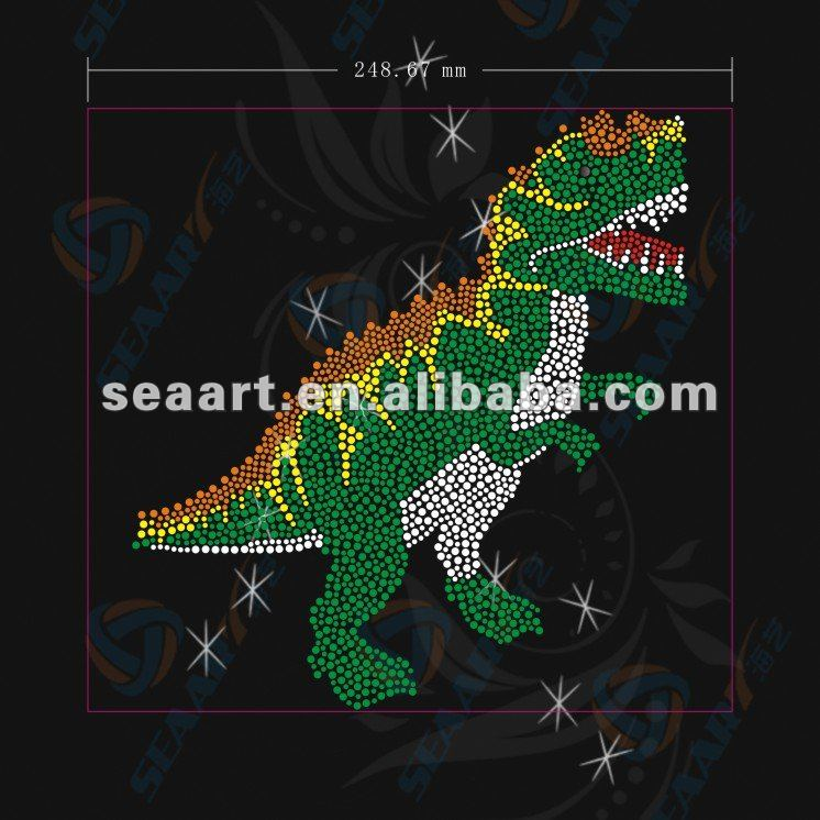 new dragon design hot fix rhinestone motifs