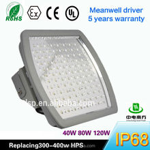 100W LED Parking Garage / Gas station Canopy Light certified by UL DLC atex ce