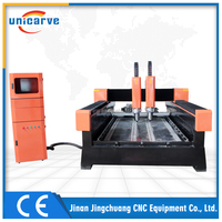 High Performance two heads 3D Wood engraving cnc machine for furniture