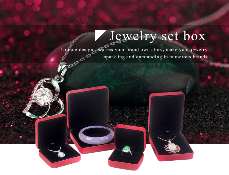 Red Elegance Jewelry Box For Bangle Bracelet Necklaces Bracelet Earrings Ring Packaging