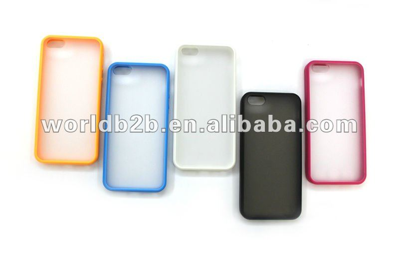 2 in1 TPU & PC Hard Back Cover case for iPhone 5