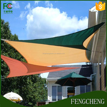 2017 High quality 100% virgin HDPE light brown color shade net / garden shade sail/balcony shade sail with cheap price
