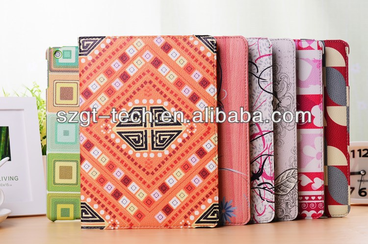 2014 promotion leather flip case for ipad air, for ipad 5 leather case