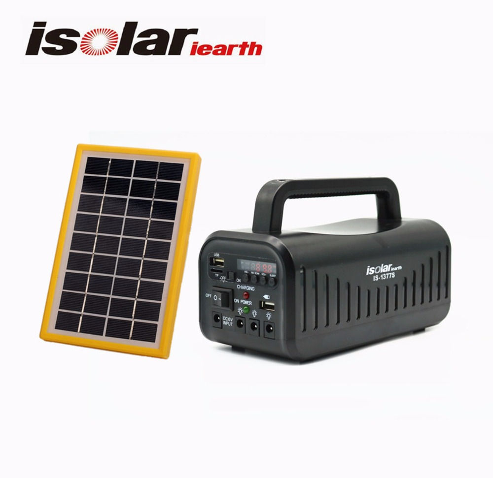 IS-1377S portable solar home lighting kit system with fm radio MP3 Player for indoor and outdoor